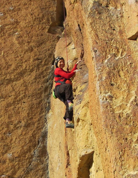 Rock Climbing Photo: Well before the crux, but it really shows how big ...