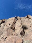 Rock Climbing Photo: Dave explores the line.