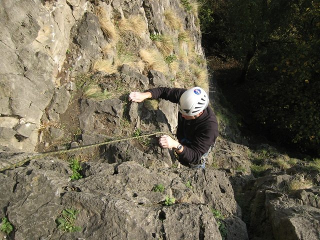 Near the belay on the first pitch of Liedekerke