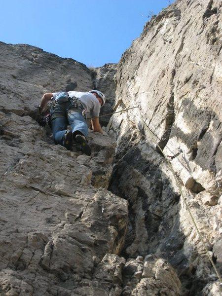 Rock Climbing Photo: Nearing the top of Liedekerke