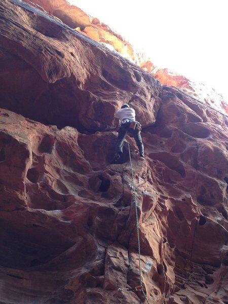 Rock Climbing Photo: Friend 5.10