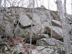 Rock Climbing Photo: Highball area- When this was clean the cracks and ...