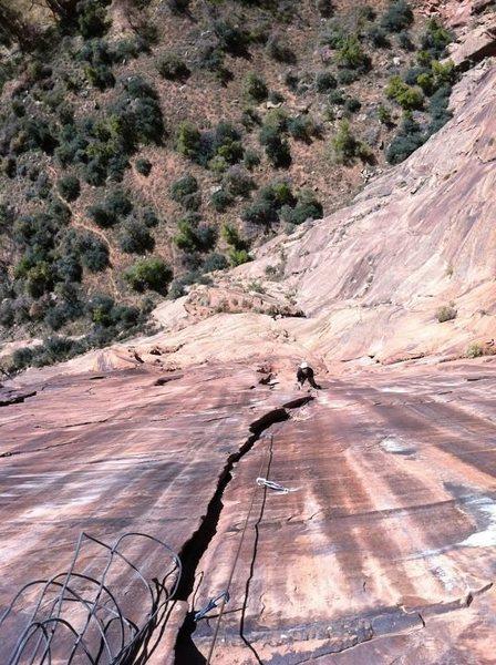 Rock Climbing Photo: Mystery Pitch.