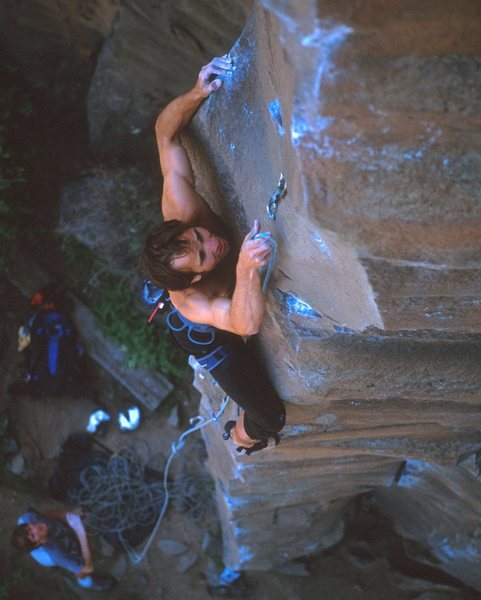 Rock Climbing Photo: The Catalyst on sight.  Andy Burr Photo.