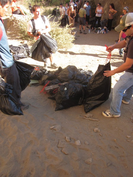 Malibu Trash Clean Up - Lots and lots of trash
