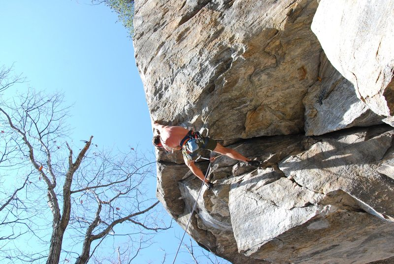 Rock Climbing Photo: Will Byrom starting to pump on Southern Boy's