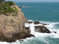 Rock Climbing Photo: A crowded Technical Wall