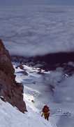 Rock Climbing Photo: Approaching Thumb Rock Liberty Ridge-Mt. Rainier