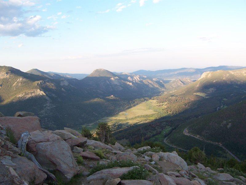 Lumpy Ridge from Trail Ridge, 7/25/09.
