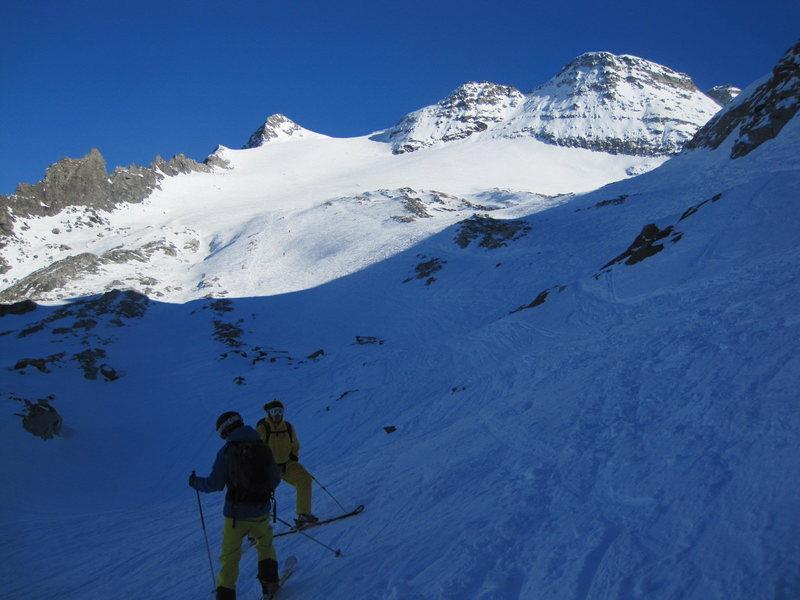 Rock Climbing Photo: ski route, Breithorn
