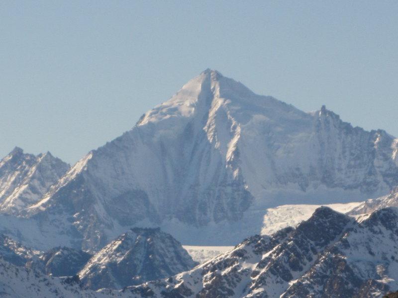 I think The Weisshorn, looking toward Zermatt from Simplon Pass.
