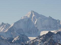 Rock Climbing Photo: I think The Weisshorn, looking toward Zermatt from...