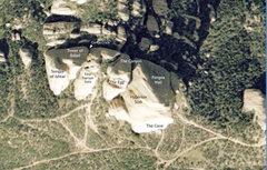 Rock Climbing Photo: Shows location of Corvus Crack.