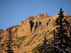 Rock Climbing Photo: The Stairway to Hayden. This is also the general a...