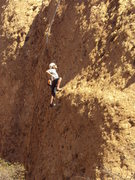 "Rock Climbing Photo: Climber enjoying the moves on ""Spider's Line...."
