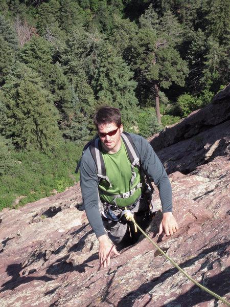 Rock Climbing Photo: Climbing Third Flatiron: Boulder, CO.