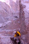 Rock Climbing Photo: Soloing the East Face of Mt. Whitney, California