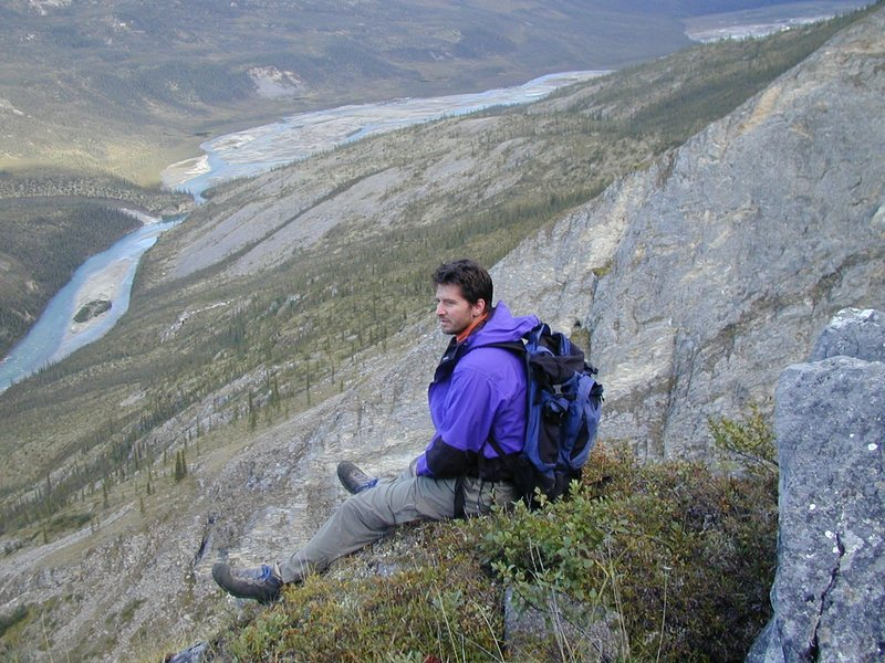 Climbing in the Brooks Range, Alaska.