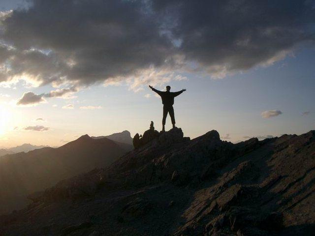 Standing atop Ha Ling Peak, Alberta, Canada.