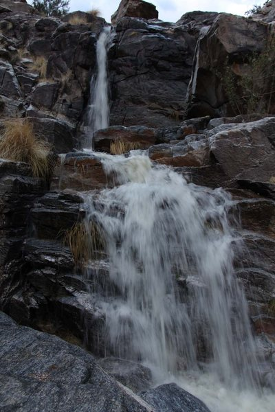 Water's flowing down the canyon at the hairpin!<br> Hand held at a 8th of a second.  Gotta love image stabilized lenses!
