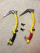 Rock Climbing Photo: Grivel Taa-k-oon ice tools.  $295 for set of tools...