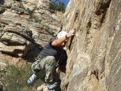 Rock Climbing Photo: hitting it hard