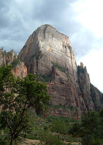 Great White Throne from Zion Canyon