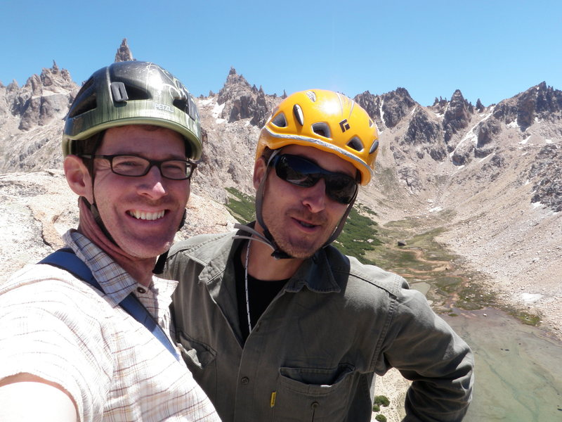 Me and Manuel on the summit of Aguja Frey, near Bariloche, Argentina.