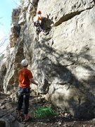 Rock Climbing Photo: Rich heading up