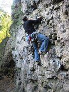 Rock Climbing Photo: Calebard Étanche.  Matt gunning for the first cli...