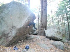 Rock Climbing Photo: Boulder X (V6)