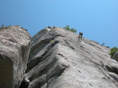 Rock Climbing Photo: Looking up from below the Chimney.  You can see th...