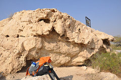 Rock Climbing Photo: This is the beta photo for the route. The sit star...