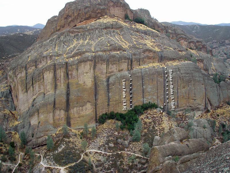 Balconies as seen from top of Machete.