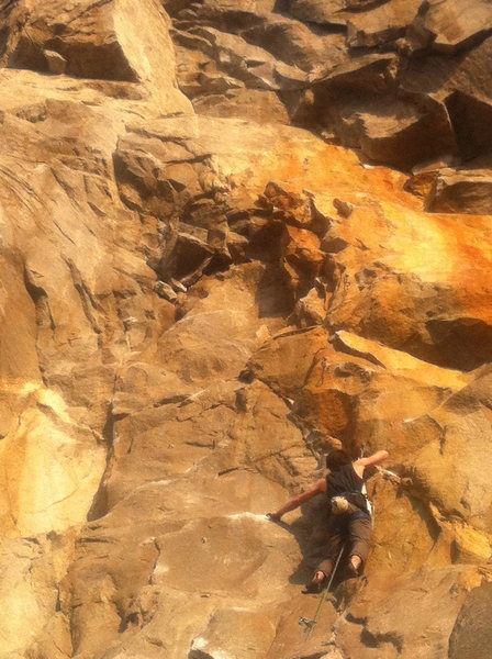 Working up to the first crux