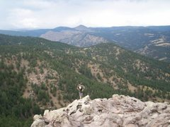 Rock Climbing Photo: nice easy climb at the top of flagstaff. can look ...