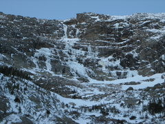Rock Climbing Photo: Conditions as of 12/16/2011. A little thin.  The W...