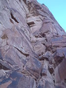 Rock Climbing Photo: The main dihedral with the huge roof at the top!