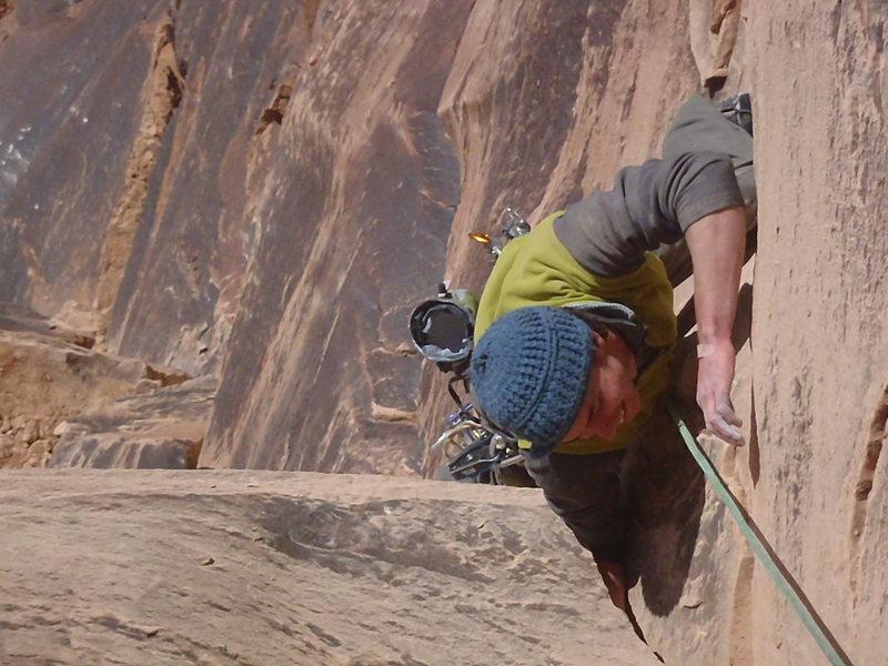 Rock Climbing Photo: Ben coming up pitch 2.