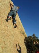 Rock Climbing Photo: Bag gettin' his slab on.