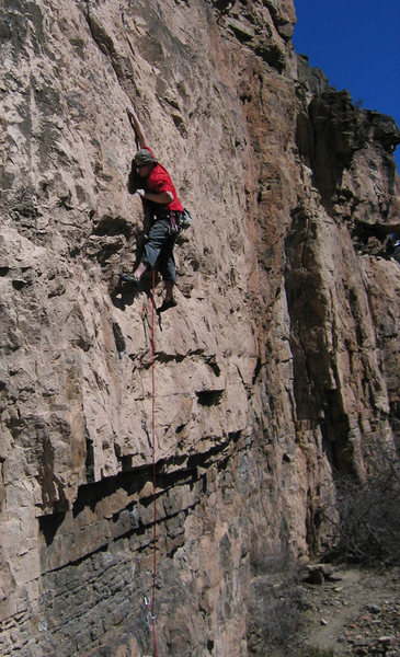 Rock Climbing Photo: Aeon on Rex Luthor, one of the original Pup Tent r...