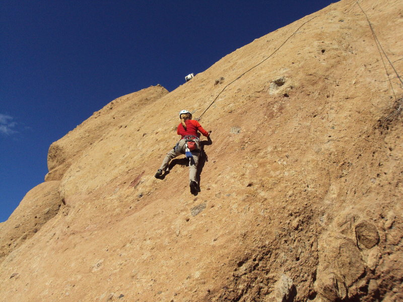 "Rock Climbing Photo: Pulling pockets on the headwall of ""She Think..."
