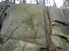 Rock Climbing Photo: Left face of Oz.