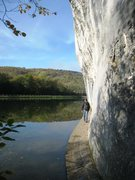 Rock Climbing Photo: The trail at the base of the Meuse Face practicall...