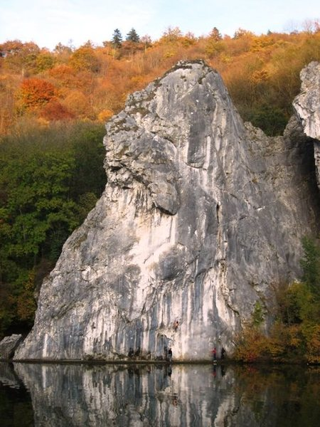 Rock Climbing Photo: The steep Meuse Face.
