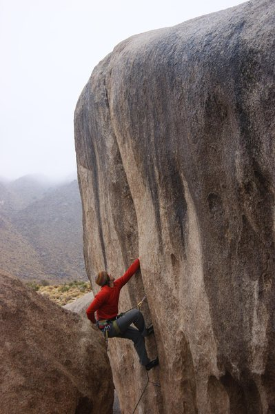 Rock Climbing Photo: Richard Shore leading Boortemus 5.10d in less-than...