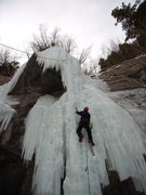Rock Climbing Photo: Climbing at Firehouse Falls in Vail CO.  With Mike...