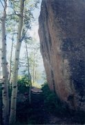 Rock Climbing Photo: High Times Boulder. This was the day I fell off to...