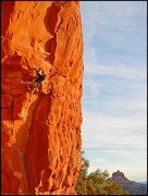 Rock Climbing Photo: Tim Emmett climbs Galactic Hitchhiker in the setti...