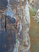 Rock Climbing Photo: Topping out on Slap My Fro (12b) at Winslow Wall. ...
